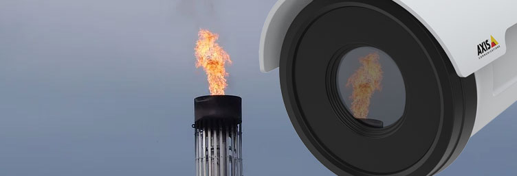 Flame monitor Embedded para detección y análisis de bengala, disponible embebido en cámaras Axis Q1941-E, Q1942-E, Q1951-E, Q1952-E y Q29