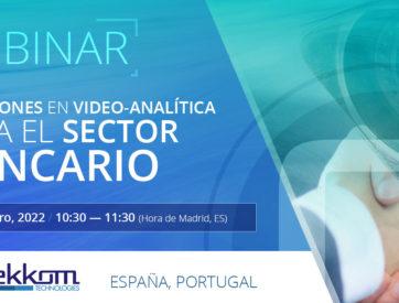 Webinar: Soluciones en video-analítica para el sector bancario - ES, PT