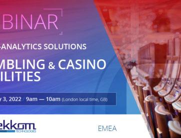 Webinar: Video-analytics solutions for Gambling & Casino facilities - EMEA