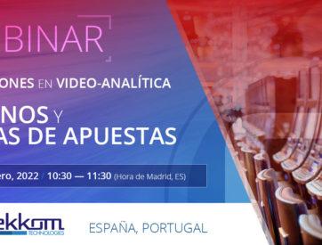 Webinar: Soluciones en video-analítica para casinos y casas de apuestas - ES, PT